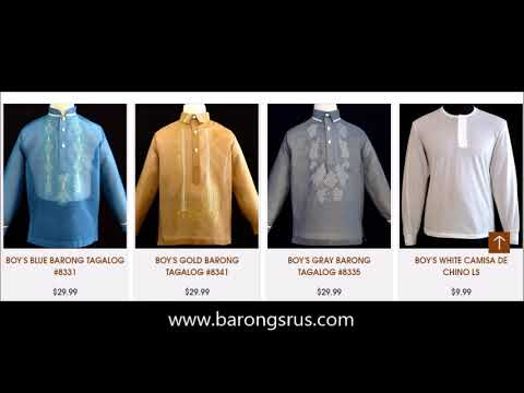 Chinese Barong Tagalog for Boys from Barongs R us