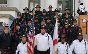 BCSO Honor Guard and Brevard Police and Fire Pipes and Drums