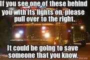 save a life, pull over