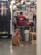 Lowe's Hire Vet and his service dog!