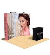 Curved Tension Fabric Pop Up Displays - Branded Canopy Tents