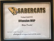 Saguaro Sabercats Awards