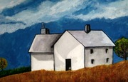 white folk art house