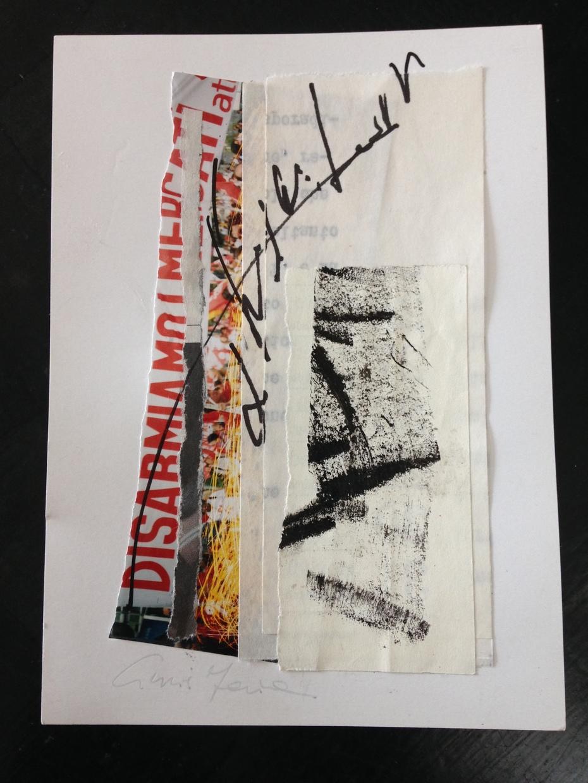 "Cinzia Farina - ""Disarmiamo"", per ""Mail art is a river /A river is not a line"" - a cura di Gianluca Marasca, Minigalleria, Ostia Antica"