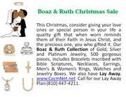Boaz & Ruth Christmas  Ad.