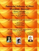 Women's Convention flyer