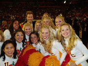 Will Farrell with USC Cheerleaders