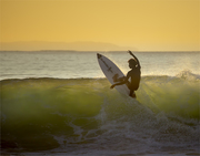 Early morning surfer