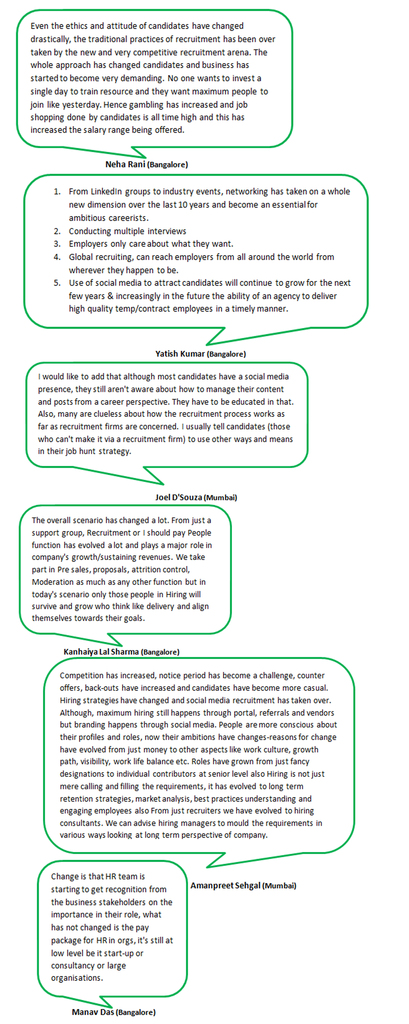 Whats App Group Chat - What changed in Recruitment in the last 10yrs