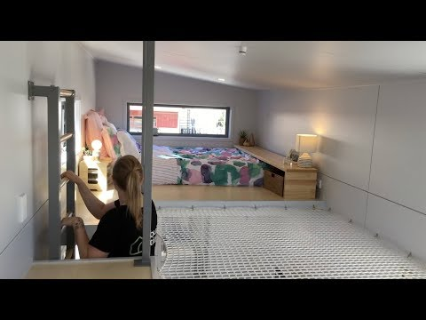 Tiny House With Net Loft For Young Couple