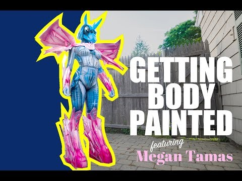Getting Body Painted featuring Megan Tamas