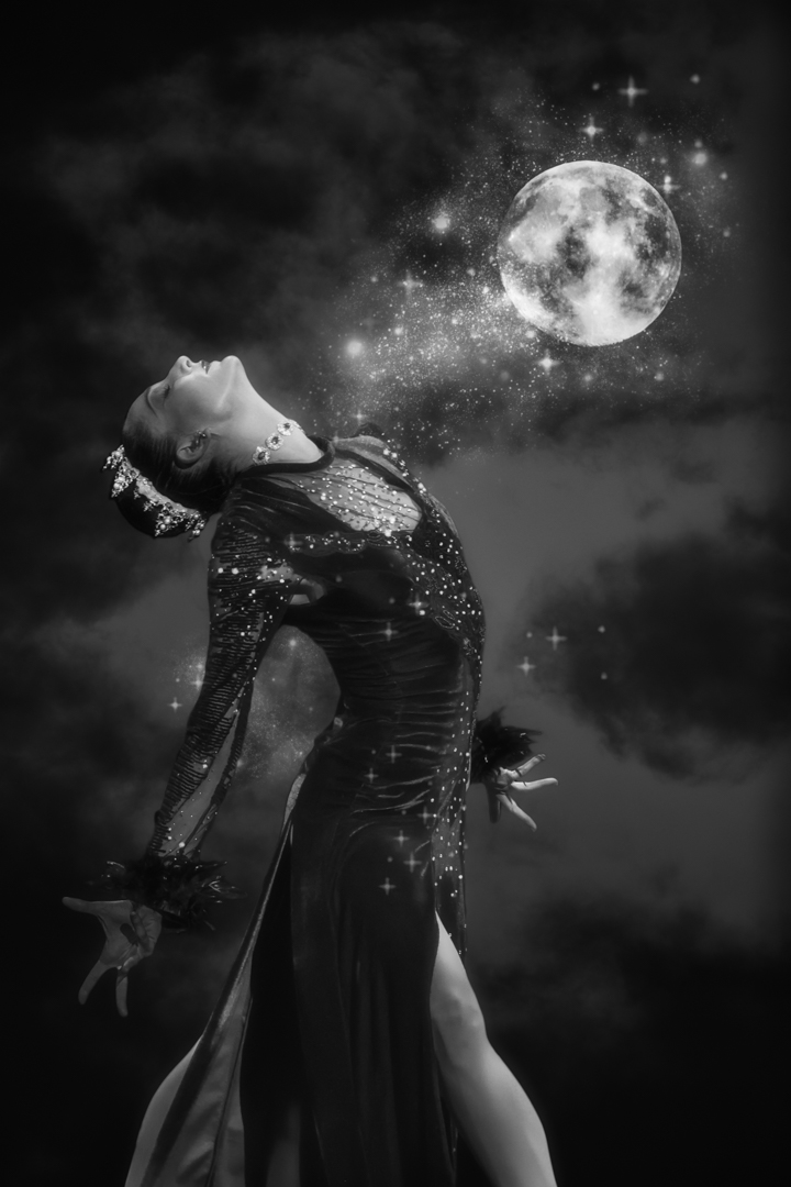 The moon cast her spell