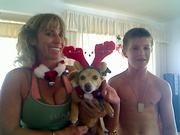 Marcy, Kelly and Mack , Christmas 2008