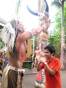 My Brother with a traditional Chieftain-2