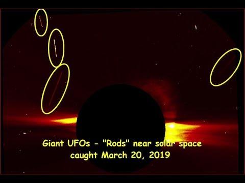 Гигантское НЛО появилось в солнечном пространстве - March 20, 2019