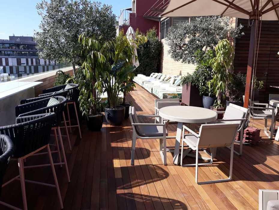 Commercial decking terrace hardwood Exterpark