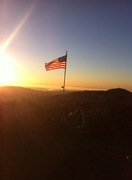 Another Flag goes up in So Cal. This one is at Franks Peak, San Marcos
