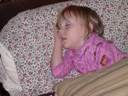 Emma fast asleep