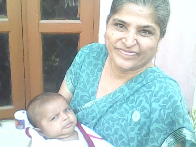 My Wife Kamla ,& Grandson Baba Charan