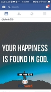 God is the happiness.