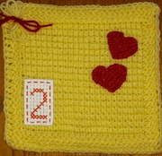 March - A is for Apple - 2 hearts