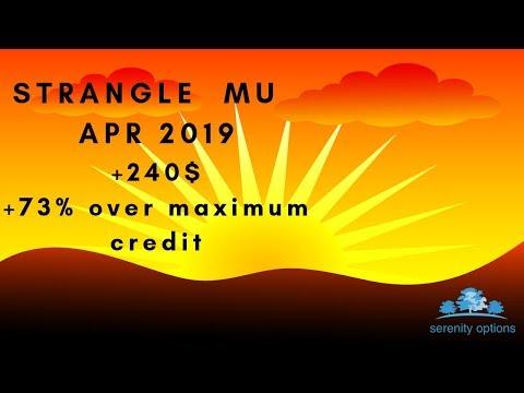Options trading:Closing Strangle MU APR19,Eng