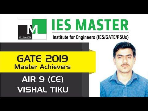 GATE 2019 Topper | Vishal Tiku AIR 9 (CE) | IES Master Student