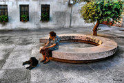 Banco_Sola con su perro