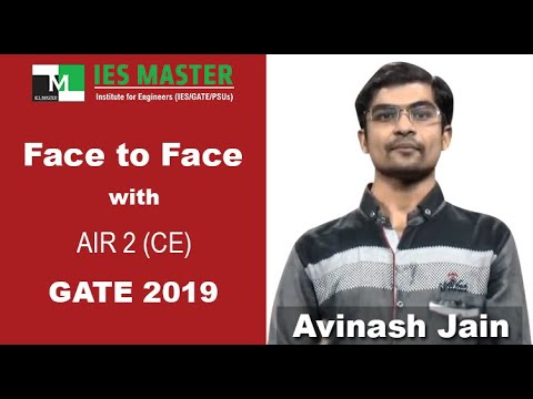 Face to Face with GATE 2019 Topper Avinash Jain AIR-2 (CE)  IES Master Classroom student