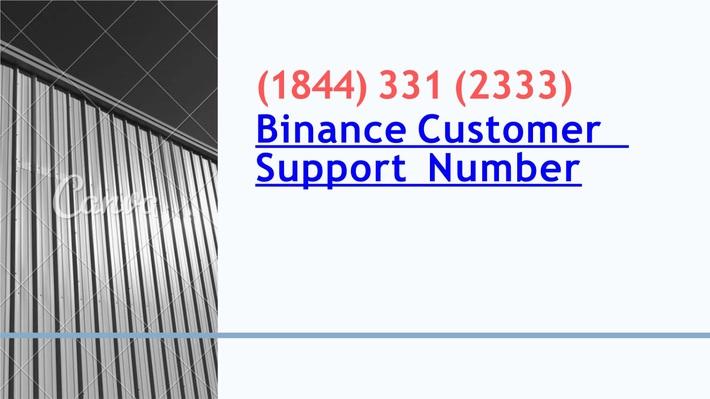 Binance Customer Support Number【+1-844-331-2333】