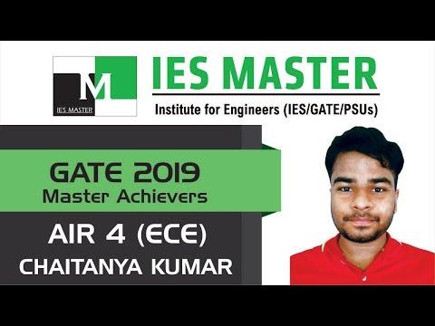 GATE 2019 Topper | Chaitanya Kumar AIR 4 (ECE) | IES Master Student
