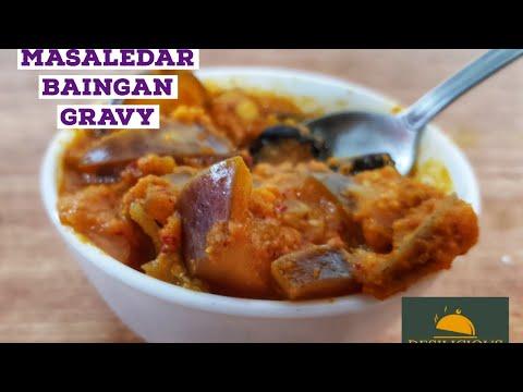 Eggplant Curry Recipe   Masala Baingan Curry