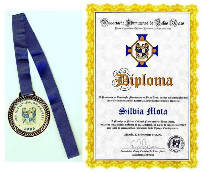AFBA-Medalha do Merito Cultural Fluminense de Belas Artes