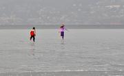 la corsa sul lago ghiacciato