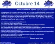 Octubre 14. CALENDARIO MAHATMA