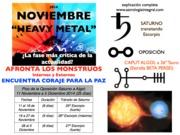 Noviembre Heavy Metal coraje para la Paz