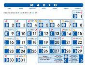 calendario lunar  marzo