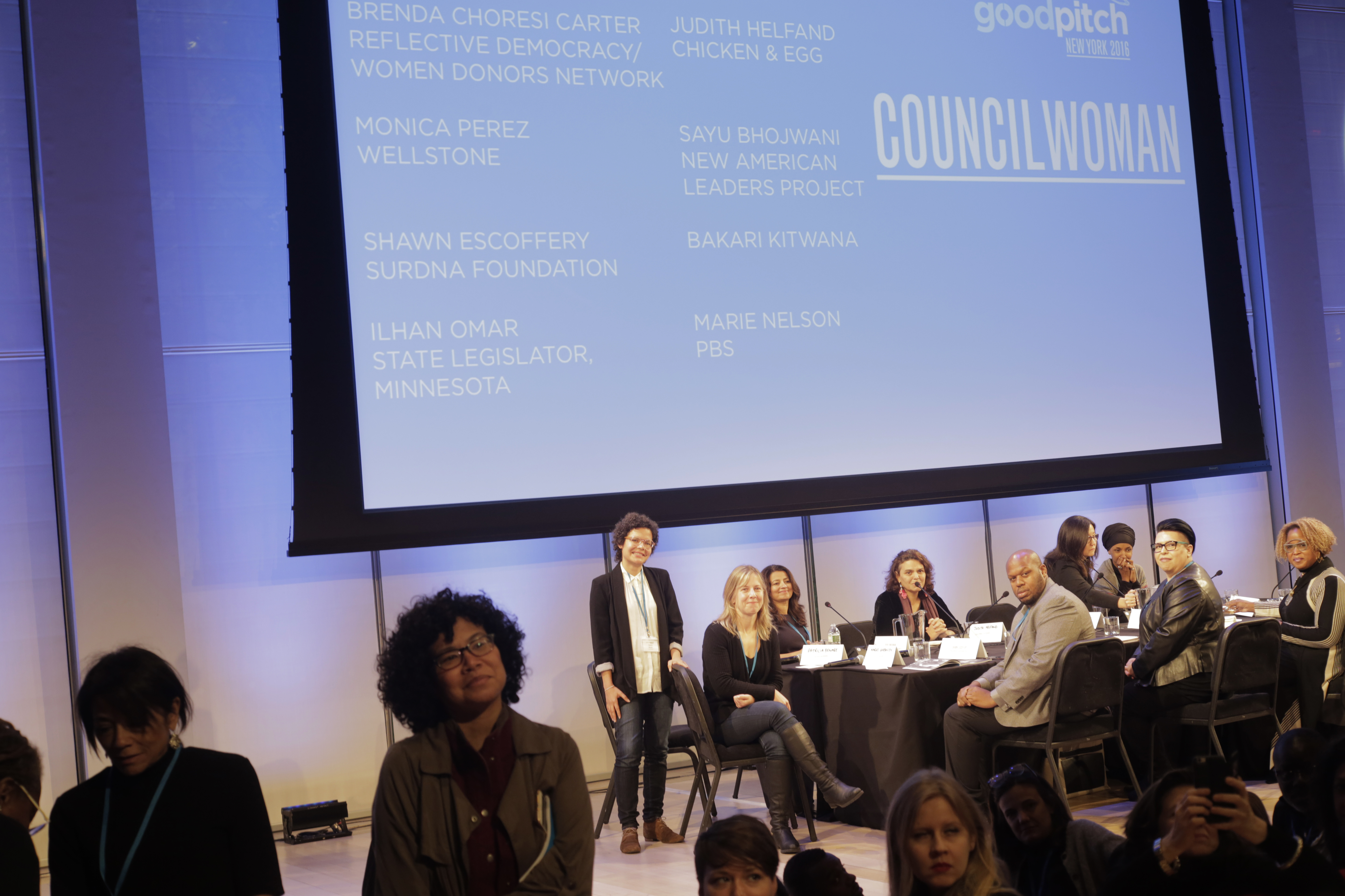 GoodPitch NYC 2016, pitching COUNCILWOMAN