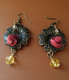 Vintage Roses Earrings