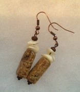Stone and Calcite Earrings