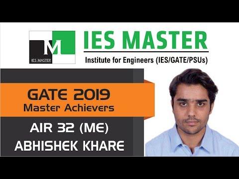 GATE 2019 Topper | Abhishek Khare AIR 32 (ME) | IES Master Student