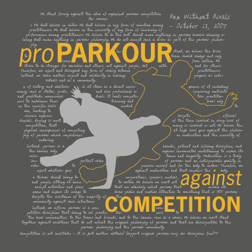 Parkour not Competition shirt concept