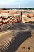 Ludington's stearns beach sand fences