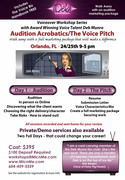 Deb Munro finally comes to Orlando, Florida with her Voice Pitch Weekend