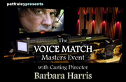 Voice Match Masters Event with Casting Director Barbara Harris