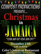 """Compost Productions' Christmas in Jamaica   """"Come and Get Your Jerk Off!""""   Voiceover Holiday Party/Mixer!"""