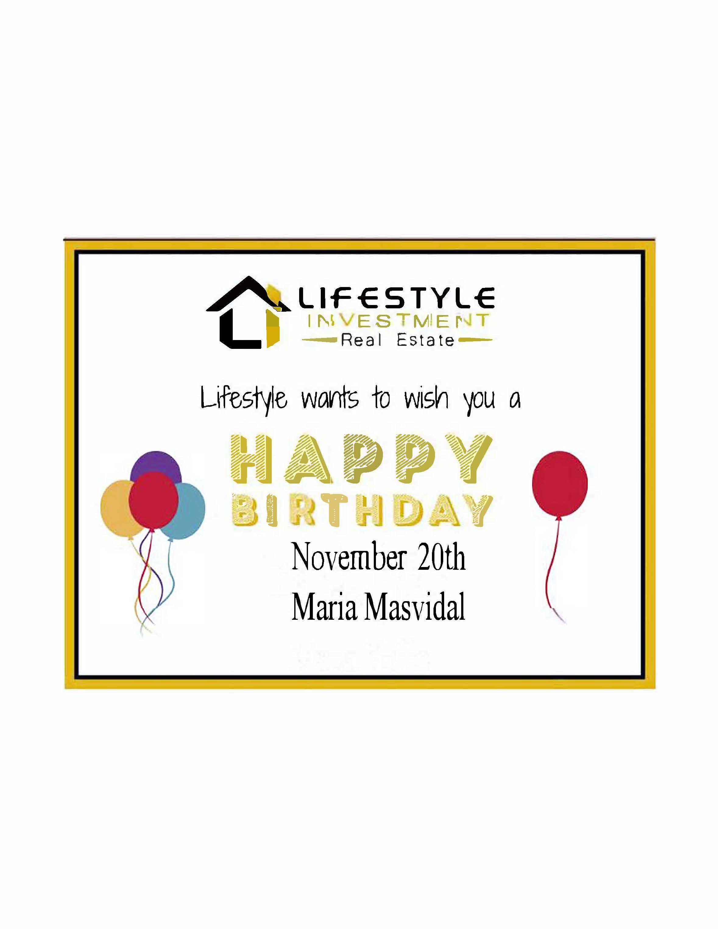 Maria Masvidal Birthday