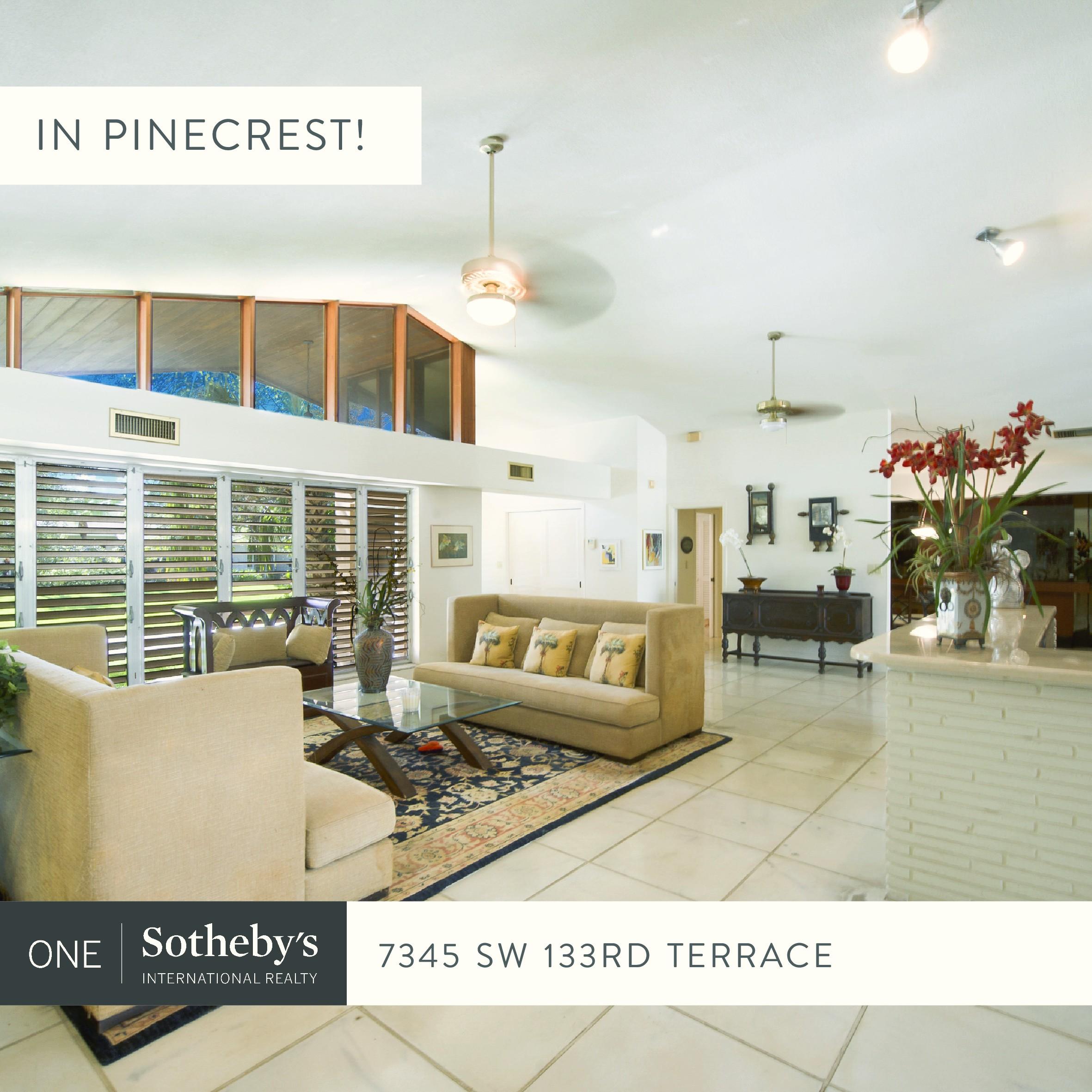 7345 SW 133 Terrace, Pinecrest FL