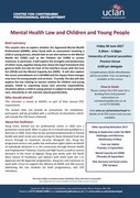 MH Law and Children and Young People 30.06.17