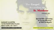 "Screening of Pasolini's ""The Gospel According to Matthew"""